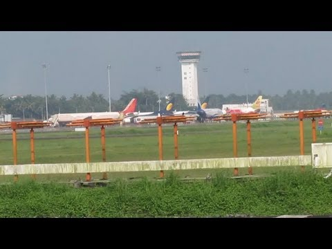 Cochin International Airport: View from Train !!