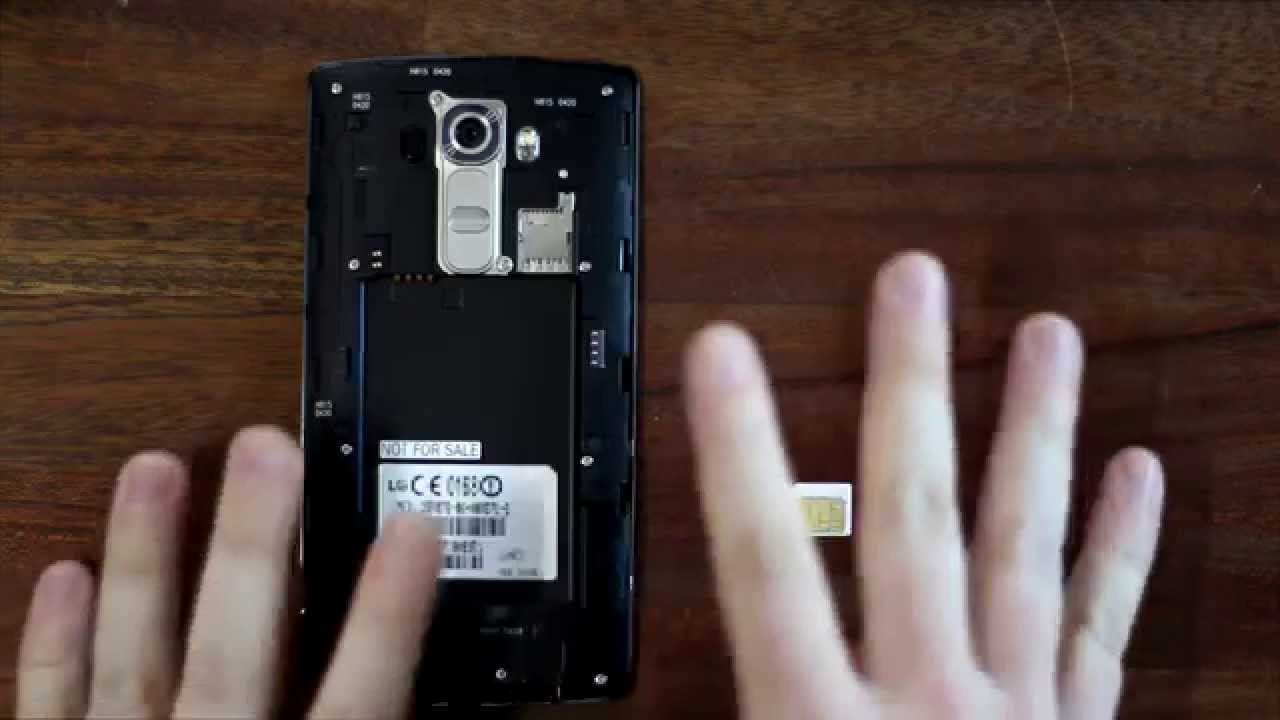LG G4 - How To Insert SIM And SD Card