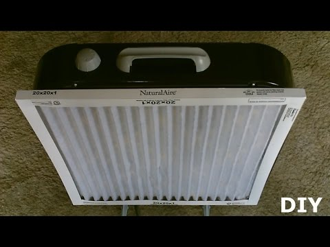"""DIY Air Filtration System!  – Homemade Air Purifier – Simple """"box fan"""" conversion! – very effective!"""