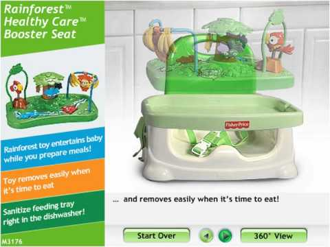 fisher price rainforest healthy care high chair 2 barcelona style booster seat mp4 youtube