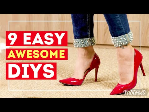 9 simple yet awesome ideas to decorate your clothes DIY tricks. Tips and Tricks