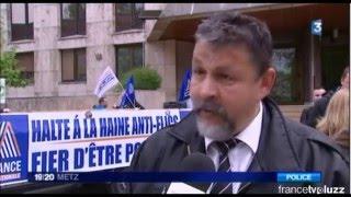 Rassemblement contre la haine anti-flic à Metz