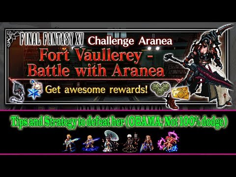 Final Fantasy Brave Exvius Battle With Aranea Strategy Guide (All missions and No 100% dodge) (#344)