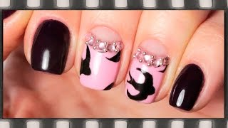 Дизайн ногтей Ласточки гель-лаком. Маникюр с ласточками(В этом видео я покажу, как нарисовать стилизованных ласточек на ногтях и как сделать лунный маникюр со стра..., 2016-03-30T15:30:00.000Z)