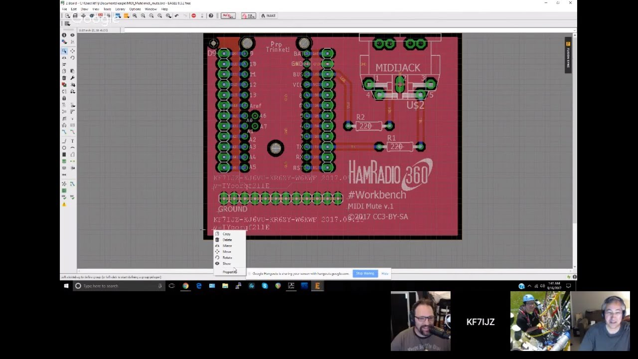HamRadio360 Workbench Podcast - Tutorial on Autodesk Eagle Board ...