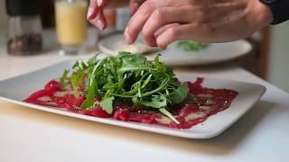 Сервировка и рецепт карпаччо