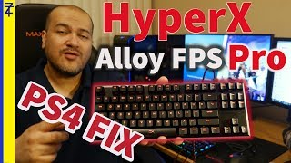 how to Connect HyperX Keyboard to PS4 (Alloy FPS Pro)