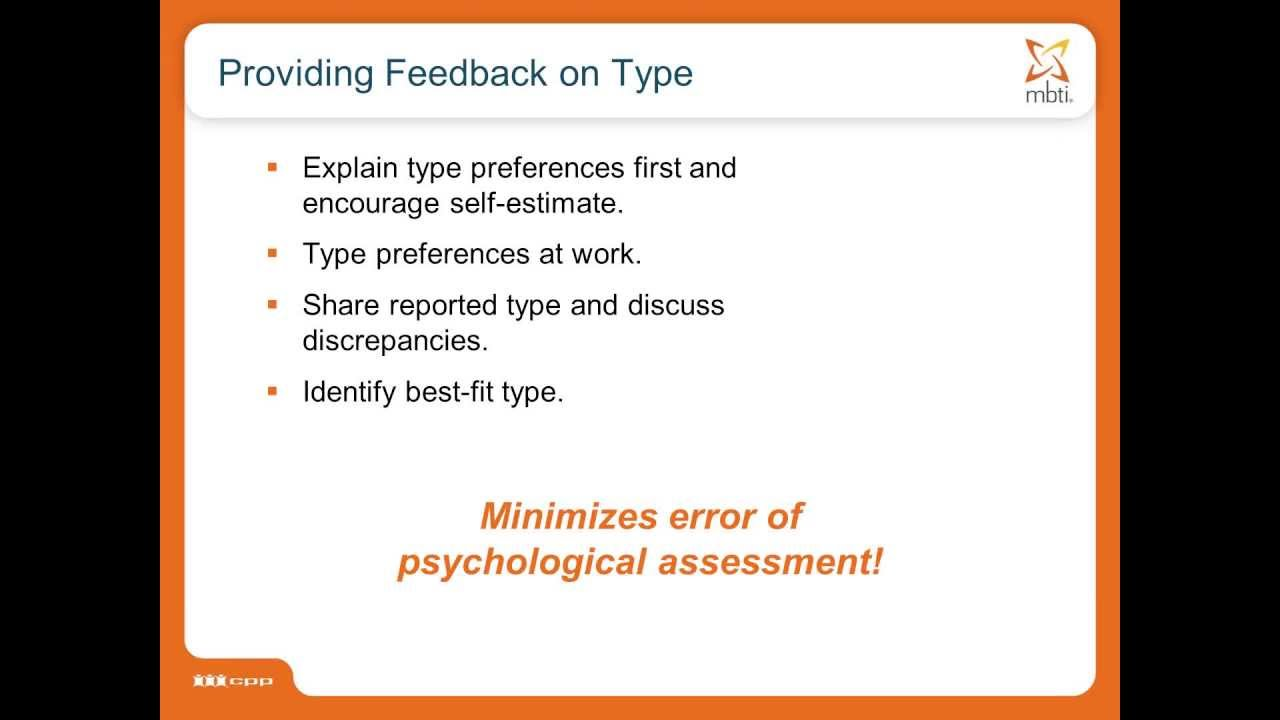 Finding Best Fit MBTI® Type