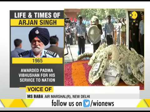 India's final salute to IAF Marshal Arjan Singh