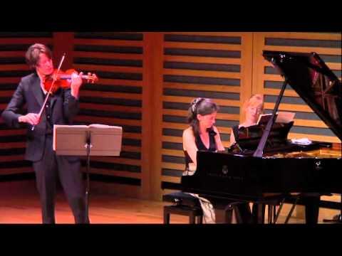 Janacek Violin Sonata 1st Movt - Thomas Gould and Ivana Gavric