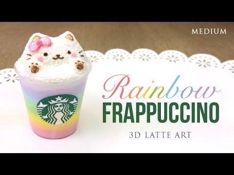 Rainbow Starbucks Latte Art! - Cute Frappuccino DIY Clay Tutorial (Collab with PinkSugarCotton)