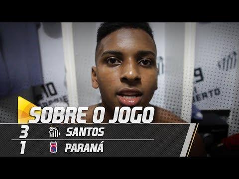 Gabriel e Rodrygo comentam vitória sobre o Paraná