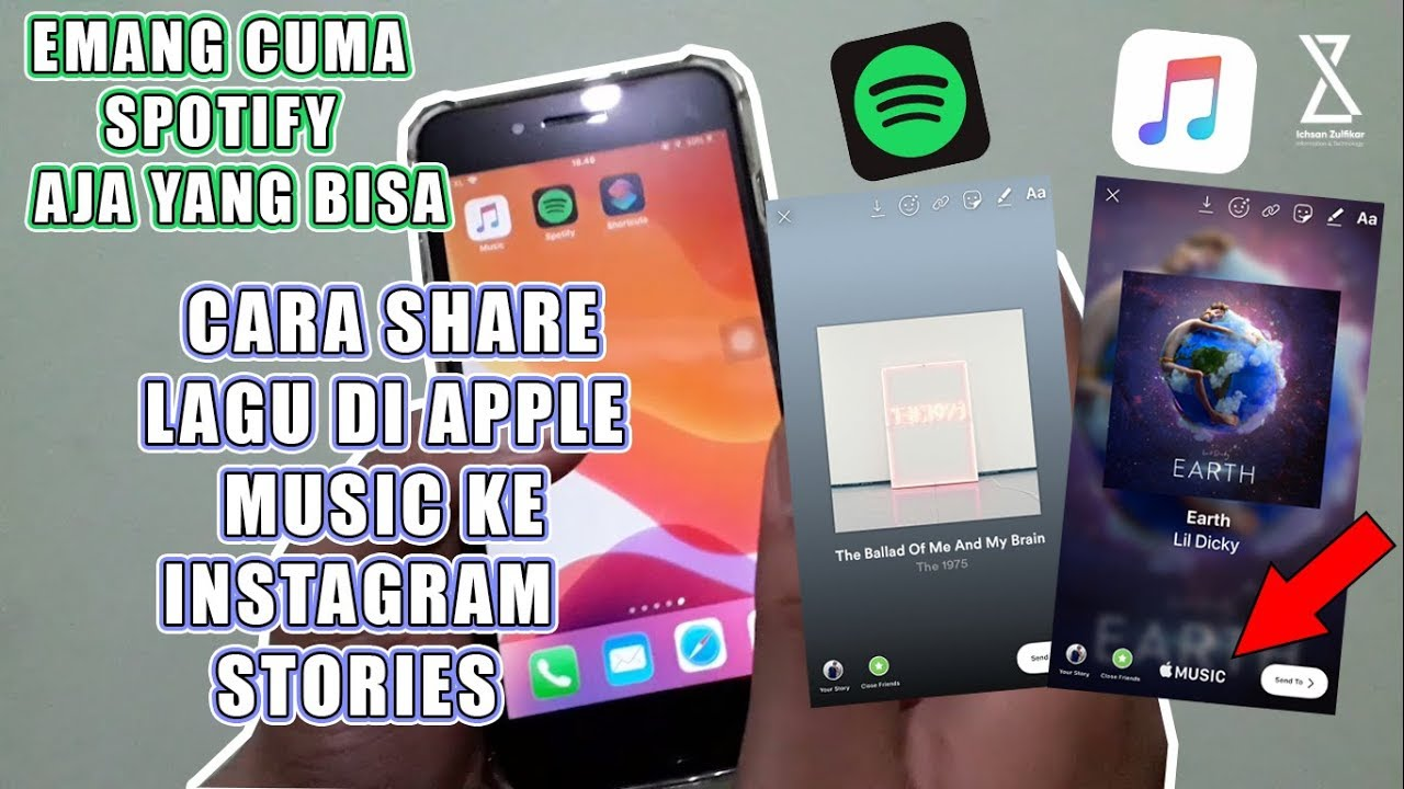 sharing 76 cara share lagu di apple music ke instagram stories tutorial instagram
