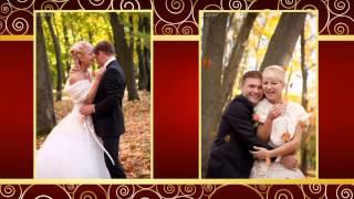 Свадебное слайд-шоу в красном цвете
