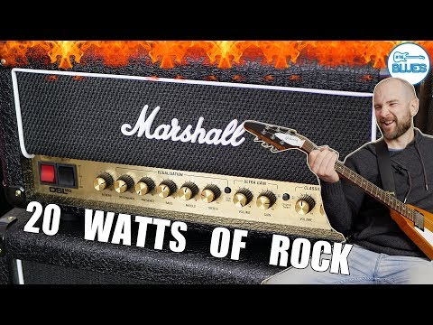 Marshall DSL20HR Amplifier Head Review into a 2x12 Box