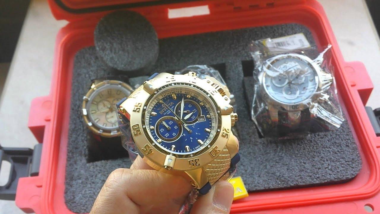 f736c4741e1 Relógio Invicta Subaqua referencia 5515 Plaque Ouro Original Suiço ...