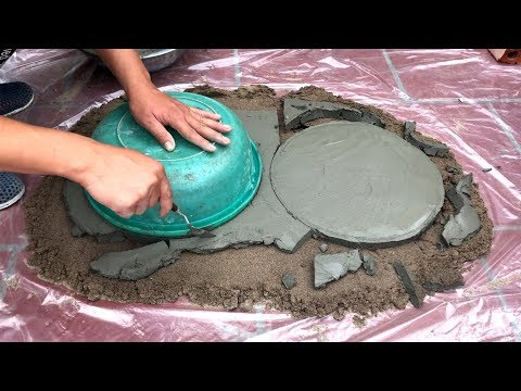 DIY ❤️ - Great ideas for making art tree pots - CONCRETE PROJECT - The best of garden
