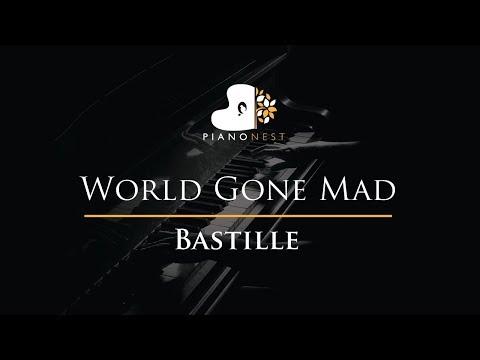 Bastille - World Gone Mad - Piano Karaoke / Sing Along / Cover with Lyrics