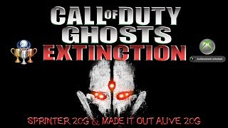 COD Ghosts Extinction - Sprinter 20G & Made it Out Alive 20G Achievements