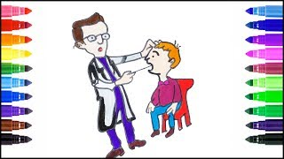 My Sweet tooth drilled by the Dentist - Drawing for Kids
