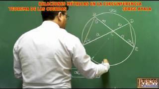 TEOREMA DE LAS CUERDAS DEMOSTRACION DE RELACIONES METRICAS EN LA CIRCUNFERENCIA