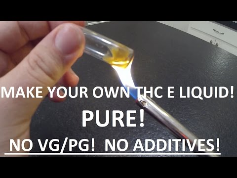 Marijuana E Liquid ADVANCED Tutorial HOW TO MAKE Cannabis E Juice from weed or keif