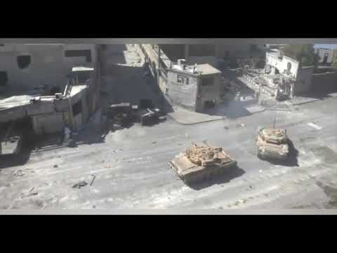 War in Syria 2020 Russian T-90 and T-72 tanks in support of Assad in Syria