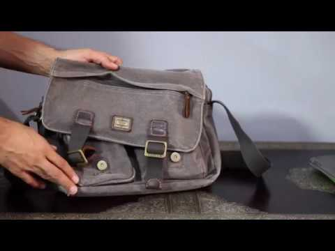 21dd338bd Review: Troop London Heritage messenger bag - YouTube