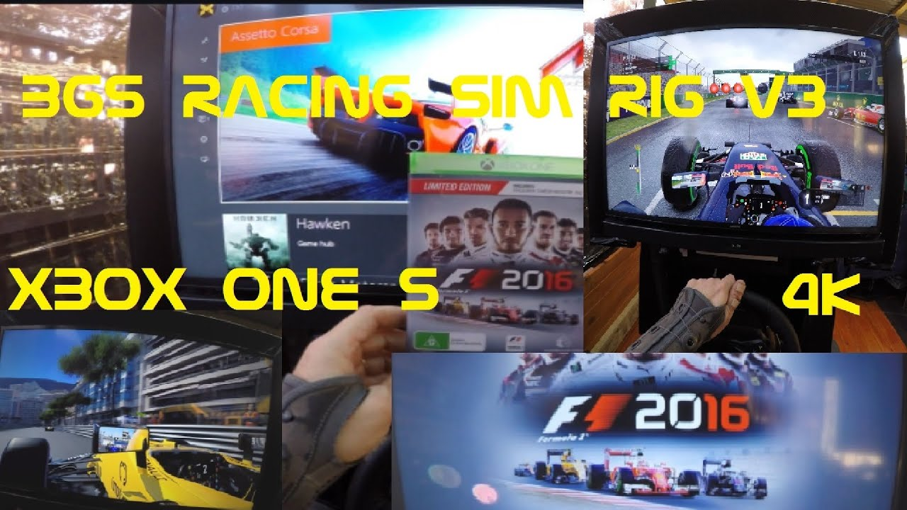 f1 2016 gameplay on xbox one s 4k mode captured with go pro 4k using bgs racing sim rig v3 youtube. Black Bedroom Furniture Sets. Home Design Ideas