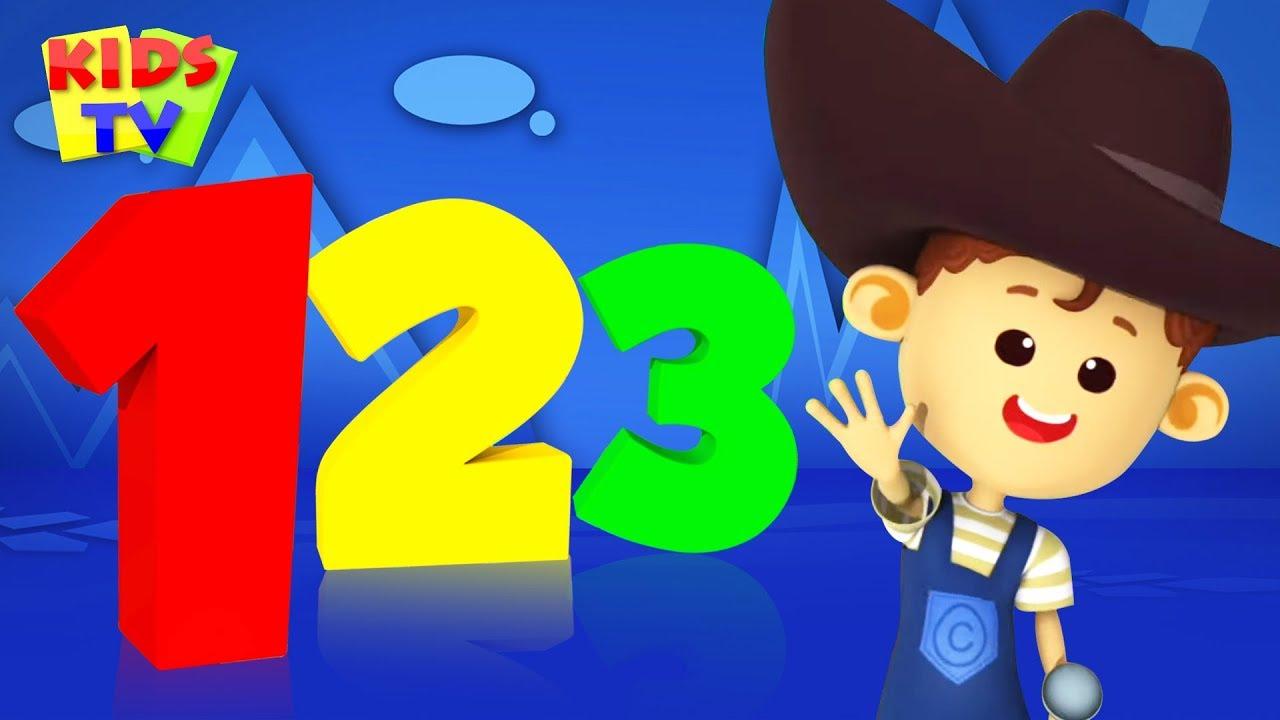 Number Song | Little Eddie Cartoons | Learning Videos for Kids | Baby Rhymes & Songs