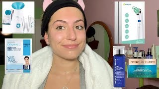 Once a Week Skincare Routine (Facial Steamer, Pore Vacuum, Collagen Face Mask, Toner + Moisturizer)