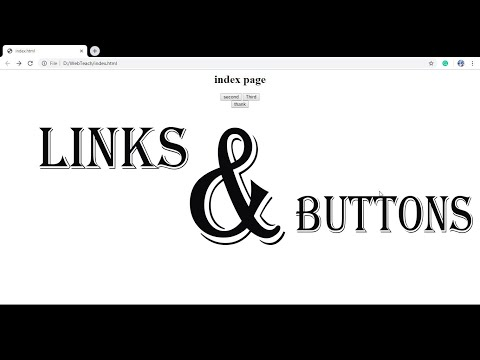 HTML Tutorial #2: Links and Buttons thumbnail