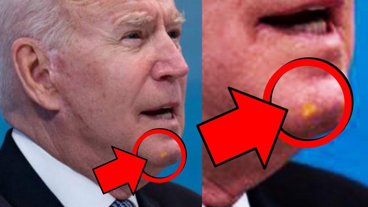 Joe Biden has WHAT on his Face ??? 😂😂😂