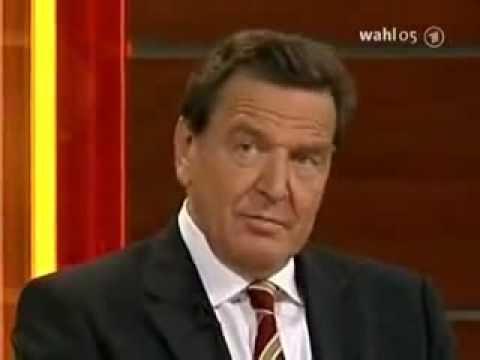 "Legendary ""Elefantenrunde"" after 2005 German Parliamentary Election"