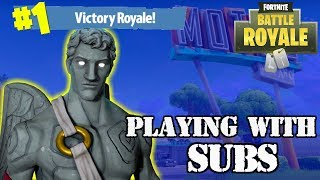 fortnite with subscribers 50 vs 50 v2 | Road to 500 Subs Come join the squad Giveaway at 500 subs