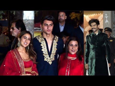 Sara Ali Khan Family OFFICIALLY MET Kartik Aaryan At Amitabh Bachchan Grand Diwali Party 2019 Mp3