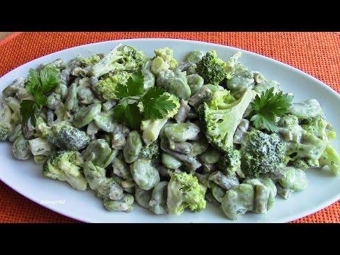 Jak zrobić sałatkę z bobu, brokuła i fasolki