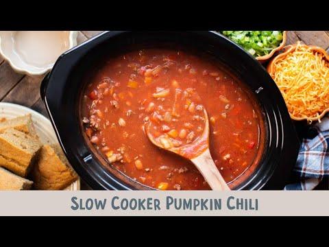 Slow Cooker Pumpkin Chili