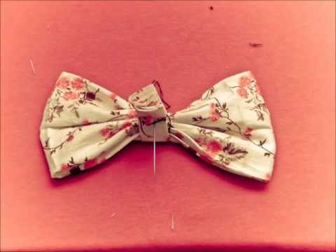 Stop Motion Fabric Bow Tutorial.