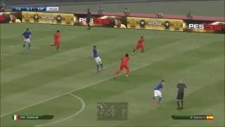 Eliminatorias Europa Para Copa  2018 Italia x Espanha ( PES 2016 )