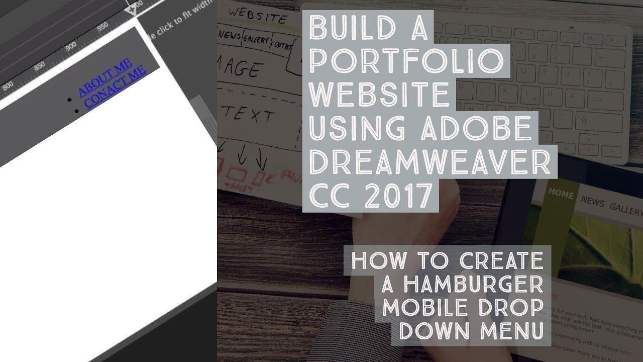 How To Create A Hamburger Mobile Drop Down Menu Dreamweaver