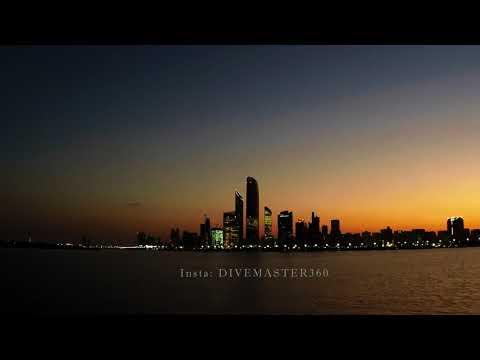 UAE Abu Dhabi Waves Breaker Area in  UHD. Sun Rise In 4K travel gopro