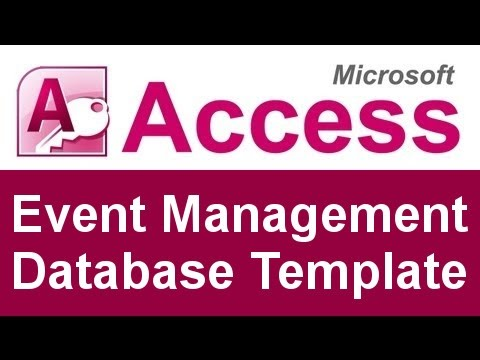 event management database template