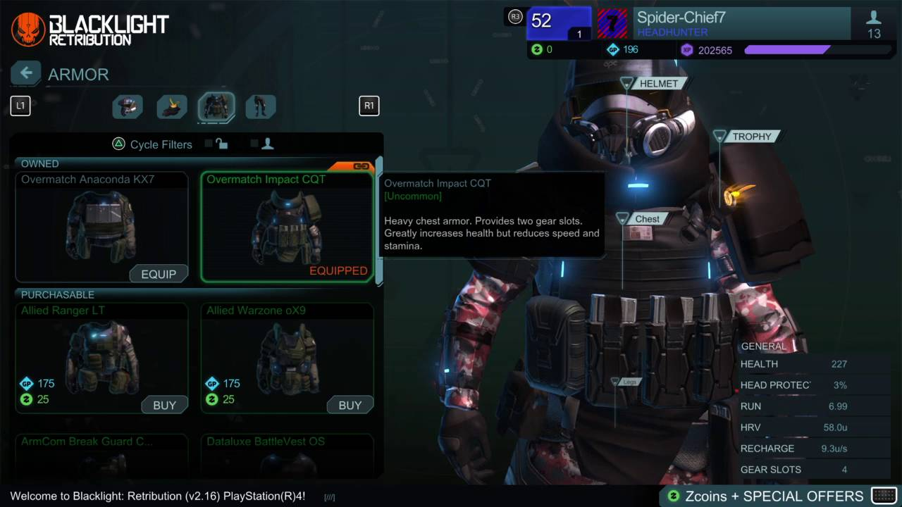 Download My Armor Build And Loadout   Blacklight: Retribution
