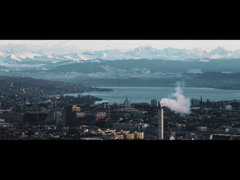 Winter in Zürich, Switzerland.