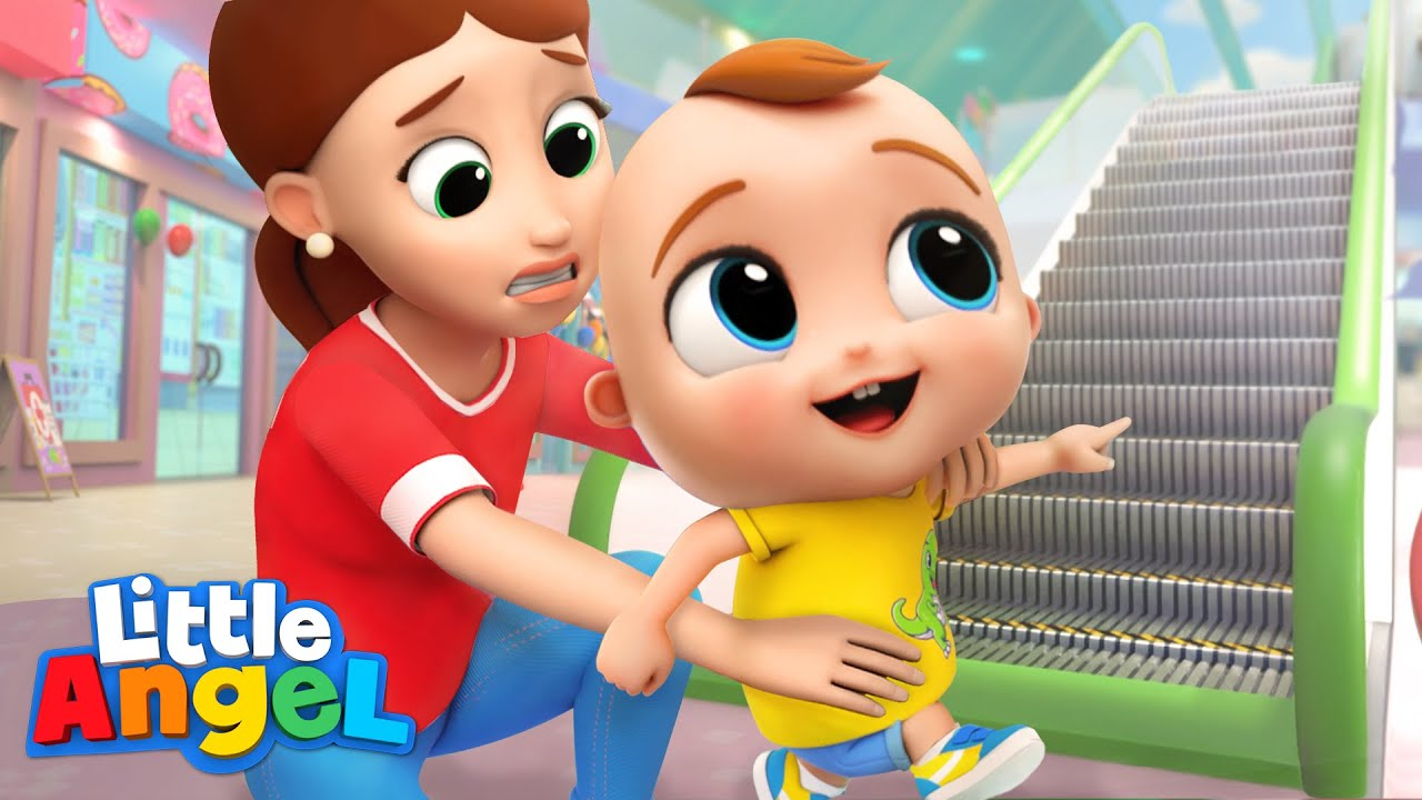 Safety At The Mall   Good Habits   Little Angel Kids Songs & Nursery Rhymes