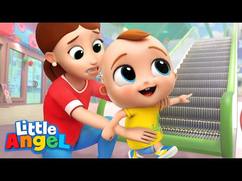 Safety At The Mall | Good Habits | Little Angel Kids Songs & Nursery Rhymes