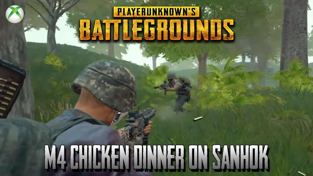 Pubg Xbox One Gameplay M416 Chicken Dinner Ending On Sanhok