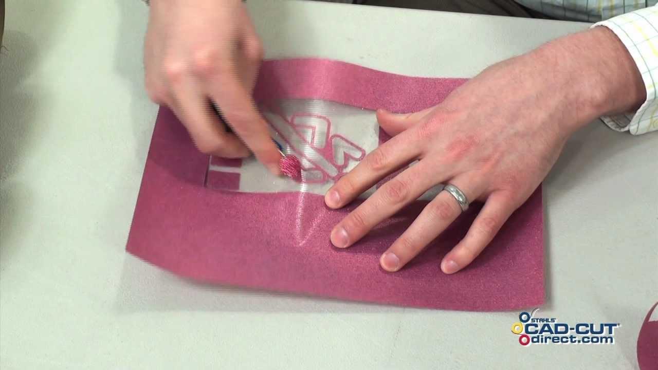 Cad Cut 174 Glitter Flake Heat Transfer Film Youtube