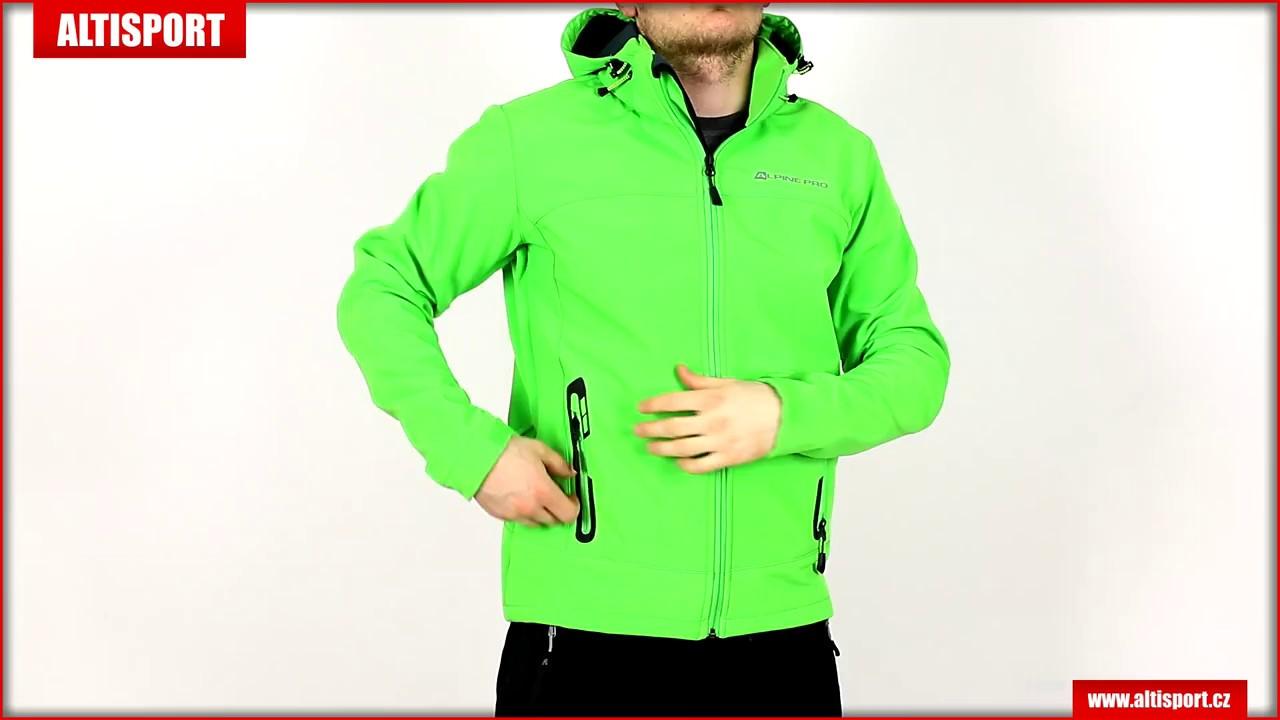 pánská softshellová bunda alpine pro nootk 3 mjcl242 zelená - YouTube a83690c0b20